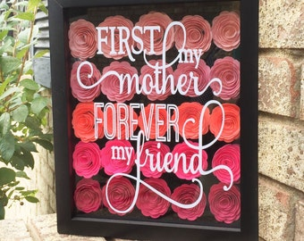 Mother of the bride shadow box   Etsy