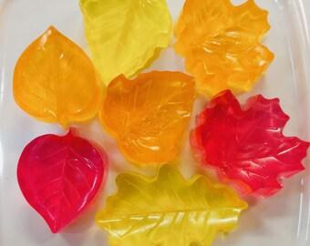 Leaf soap / Glycerine soap / Children's soap / Fall leaf / novelty soap / Fall decor / Fall soap