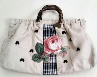 Mary Kaiser linen satchel