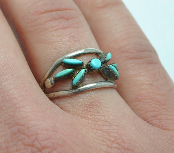 Native american turquoise ring - vintage ring - sterling silver ring - woman ring - boho ring - navajo ring - turquoise jewelry