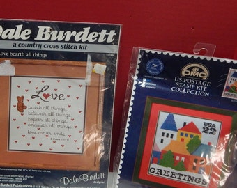 Love Bearth All Things and House Greetings  Cross Stitch Kits NIP Sold Individually Vintage Mary's Neat Knits and Kits