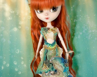 OOAK - Golden and Green Mermaid Outfit for Pullip