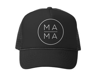 Mama Trucker Hat, MAMA Hat, Mom Hat, Black Mom Hat, Maternity Gift, Baby Shower Gift, Pregnancy Gift, Mom Life Hat, MOMLIFE hat