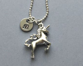 Unicorn Necklace-Hand Stamped Jewelry
