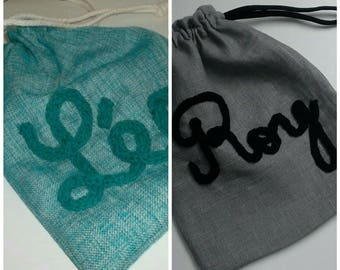 To order / snack bag / purse personalized blanket