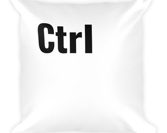 "Ctrl"" Square Pillow (Part Of The ""Ctrl, Alt Del"" Set)"
