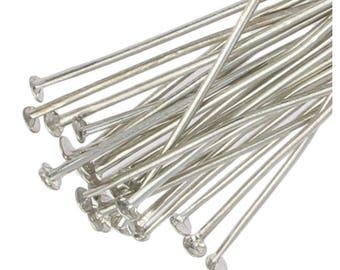 250 Headpins Silver Plated Flat 40mm Metal Head Pins Jewellery Making Findings