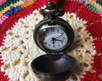 Antiqued bronze watch