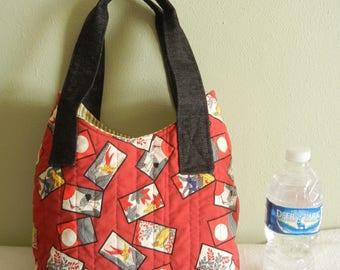Hanafuda Tote - Quilted bag