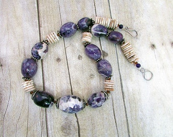 Amethyst and Magnesite Necklace