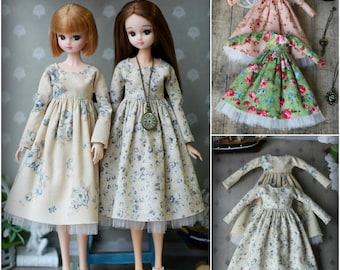 50 colors for choice! Dress for Blythe, Azone pure neemo L/M/S/XS, Momoko, Obitsu 24, Barbie, MC2 doll 1/6 size