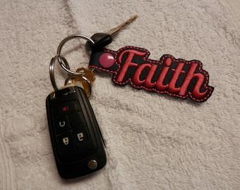 marine vinyl key fob,keychain,key fob,faith keyfob,vinyl keychain,embroidery key chain,embroidery key fob