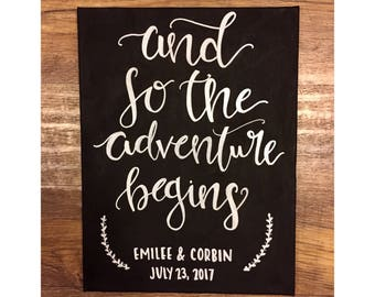 And So The Adventure Begins customized canvas