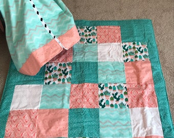 Matching quilt with car seat canopy