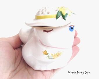 Vintage Potpourri Frog Pomander, 1982 AVON Porcelain