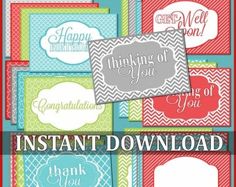 All Occasion Gift &Treat Tags -  Printable INSTANT Download