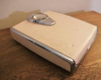 Retro Detecto Bath Scale - Pink - Chrome - Works - Vintage Mid Cenury Bathroom Scale