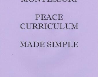 A Montessori Peace Curriculum Made Simple