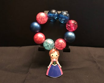 Girls Princess Anna Chunky Bubblegum Bracelet