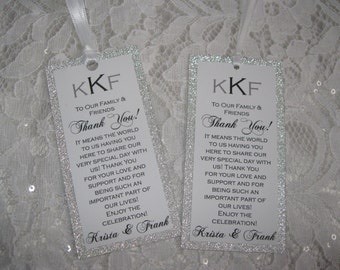 Silver Glitter Customized Personalized Tags - #032