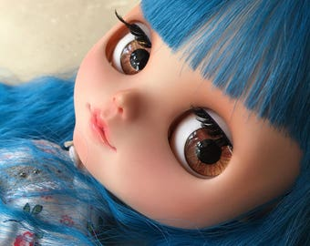 "OOAK SA Hand-painted Handmade 12""Blythe custom eye chips - R1681"