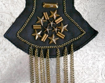 Matte Gold Beaded Chain Appliques
