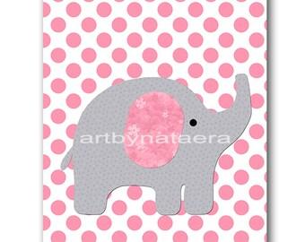 Elephant Nursery Art Baby Nursery Print Baby Girl Nursery Baby Decor Download Digital Art Digital Download Print 8x10 11X14 INSTANT DOWNLOAD