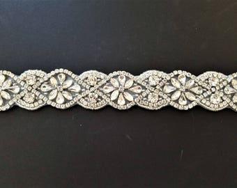 Wedding Belt, Bridal Sash Belt - Crystal Wedding Sash Belt