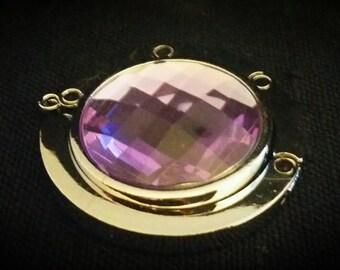 After Life Accessories Handmade Purse Hanger Silver and Purple Lavendar Rhinestone