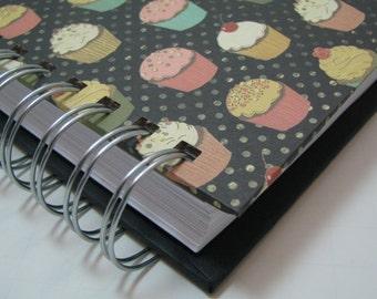 Recipe Notebook - Recipe Organizer - Recipe Log - Recipe Book - Recipes - Recipe Journal - Cooking - Foodie - Bridal Shower Gift -  Cupcake