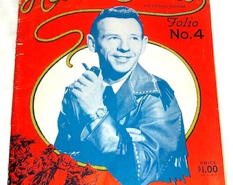 Vintage 1956 HANK SNOW The Singing Ranger Song Book Folio No. 4 Country Western Music Songs and Photos