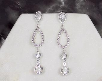 Estelle Boho Bridal Earrings, Wedding Earrings, Bridal Drop Earrings, Bridal Gold Earrings, Bridal Teardrop Earrings, Boho Dangle Earrings