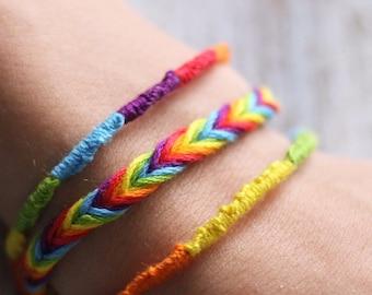 LGBT pride friendship bracelet, set of 3