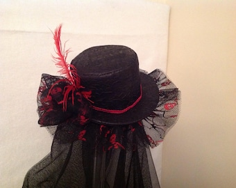 Steampunk Halloween mini top hat fascinator