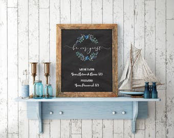 WIFI Password Sign, Wifi password printable, Internet sign, Be our Guest Sign, Guest Wifi, Guest Room Sign, Welcome Wifi Sign, Printable