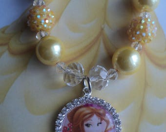 """The """" Belle Inspired  Necklace  """" - Toddler, Girls, Birthday, Photo Prop"""