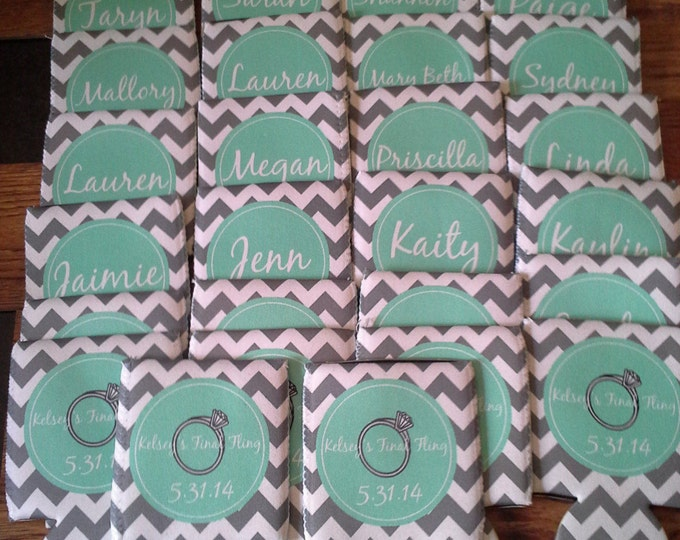 Set 30 Personalized Can Coolers - Birthday Can Coolers - Party Favor Can Coolies - Custom Can Coolers - Monogrammed Can Coolers - Vacation
