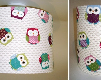 Outback animals lampshade australian animals 20cms x owls nursery lampshade in ceiling or bedside options new colours aloadofball Choice Image