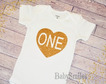 First Birthday Shirt One Birthday Shirt Baby Girl Birthday One Girl Birthday Gold One Shirt Girl First Birthday Gold Glitter Shirt Gold 101A