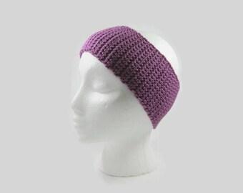 Fuchsia Crochet Cotton Ear Warmer One Size Fits Most