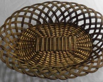 Vintage Heavy Brass Fruit Basket!