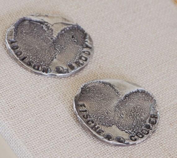 Golf Marker for Mom - Fingerprint Accessory - Fingerprint Jewelry