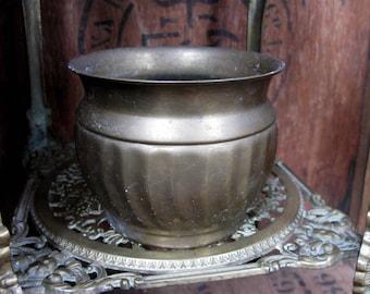 Brass Planter, Brass Plant Pot, Decorative Planter, Antique Planter, Brass Jardiniere, Garden Planter, Vintage Planter, House Plant, Indoor