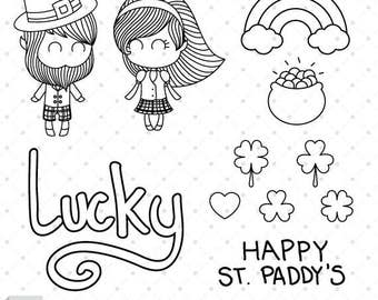 St Paddys Charms - Digital Stamp Set