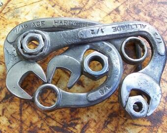 Wrench belt buckle, handmade.