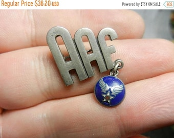 Spring Sale Vintage WW2 Sterling Silver AAF Army Air Force Pin