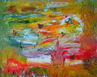 """Contemporary painting """"Waltz of the butterflies"""""""