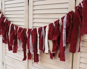 Rustic Marsala Red Wedding Banner, marsala red wedding decor, marsala red wedding theme, marsala red wedding fabric photo backdrop