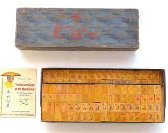 The Ancient Game of the Mandarins 1923 Mahjong Mah Jongg Game Set