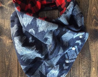 Bandana Style Scarf with Snaps